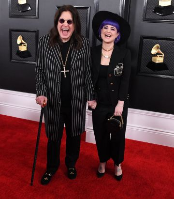 Ozzy Osbourne and Kelly Osbourne arrives at the 62nd Annual GRAMMY Awards at Staples Center on January 26, 2020 in Los Angeles, California. (Photo by Steve Granitz/WireImage)