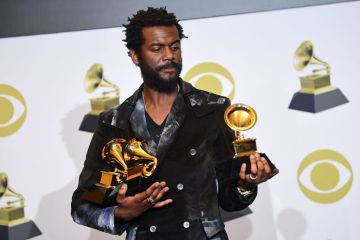 US musician Gary Clark Jr. poses in the press room for Best Rock Song, Best Rock Performance and Best Contemporary Blues Album during the 62nd Annual Grammy Awards on January 26, 2020, in Los Angeles. (Photo by FREDERIC J. BROWN / AFP) (Photo by FREDERIC J. BROWN/AFP via Getty Images)