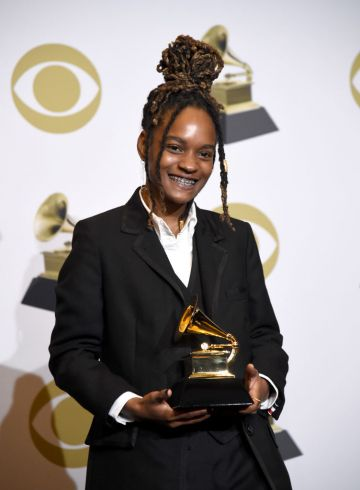 Koffee, winner of Best Reggae Album, poses in the press room during the 62nd Annual GRAMMY Awards at Staples Center on January 26, 2020 in Los Angeles, California. (Photo by Amanda Edwards/Getty Images)