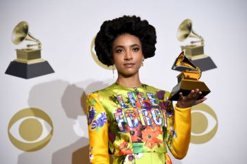 """Esperanza Spalding, winner of Best Jazz Vocal Album for """"12 Little Spells"""" poses in the press room during the 62nd Annual GRAMMY Awards at Staples Center on January 26, 2020 in Los Angeles, California. (Photo by Amanda Edwards/Getty Images)"""