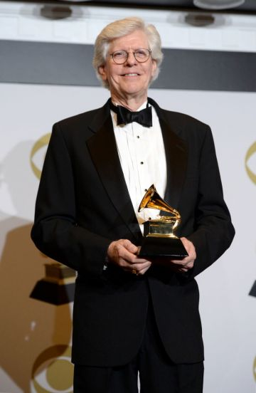 """Robert Simpson, winner of Best Choral Performance for """"Duruflé: Complete Choral Works"""" poses in the press room during the 62nd Annual GRAMMY Awards at Staples Center on January 26, 2020 in Los Angeles, California. (Photo by Amanda Edwards/Getty Images)"""