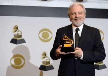 John Kilgore poses with the award for Best Engineered Album, Classical for 'RIley: Sun Rings' in the press room during the 62nd Annual GRAMMY Awards at Staples Center on January 26, 2020 in Los Angeles, California. (Photo by Amanda Edwards/Getty Images)