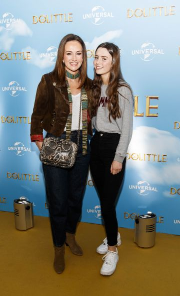 Lorraine Keane and daughter Romy Devlin pictured at the Universal Pictures special preview screening of Dolittle at Odeon Point Square, Dublin.
