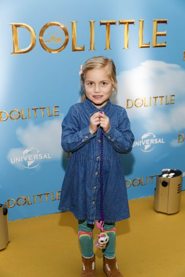 Maya Murphy (5) pictured at the Universal Pictures special preview screening of Dolittle at Odeon Point Square, Dublin.