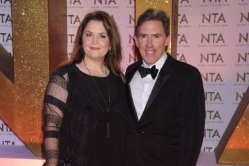 Ruth Jones and Rob Brydon attend the National Television Awards 2020 at The O2 Arena on January 28, 2020 in London, England. (Photo by David M. Benett/Dave Benett/Getty Images)