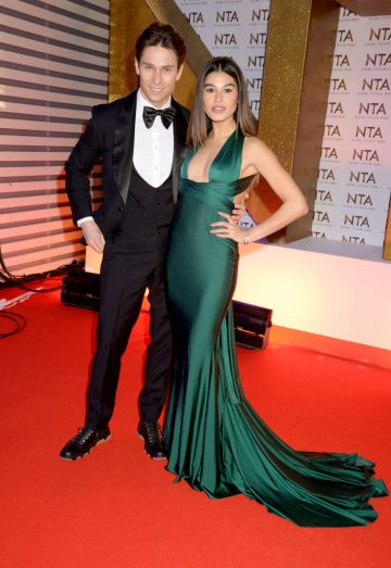 Joey Essex and Lorena Medina attend the National Television Awards 2020 at The O2 Arena on January 28, 2020 in London, England. (Photo by Dave J Hogan/Getty Images)