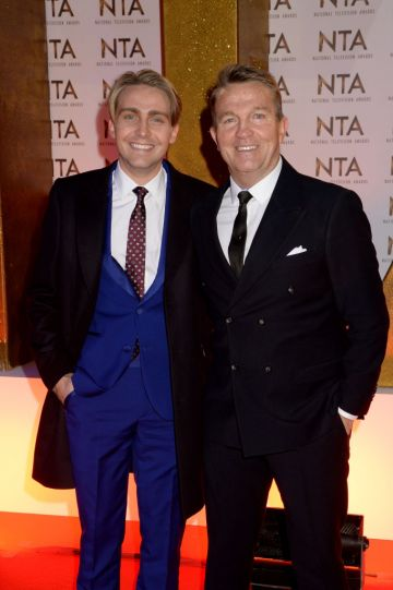Bradley Walsh and Barney Walsh pictured at the National Television Awards 2020 at The O2 Arena on January 28, 2020 in London, England. (Photo by Dave J Hogan/Getty Images)