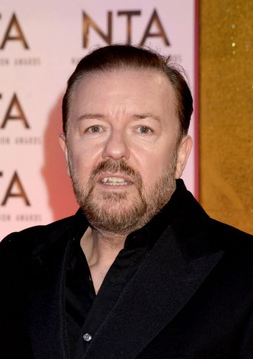 Ricky Gervais attends the National Television Awards 2020 at The O2 Arena on January 28, 2020 in London, England. (Photo by Dave J Hogan/Getty Images)