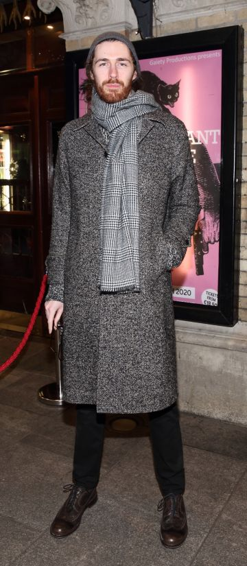 Hozier pictured at the opening of the Gaiety Theatre's major new production of Martin McDonagh's 'The Lieutenant of Inishmore', which will run at the Gaiety Theatre until 14th March.