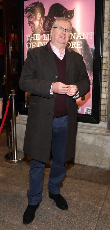 Joe Duffy pictured at the opening of the Gaiety Theatre's major new production of Martin McDonagh's 'The Lieutenant of Inishmore', which will run at the Gaiety Theatre until 14th March.