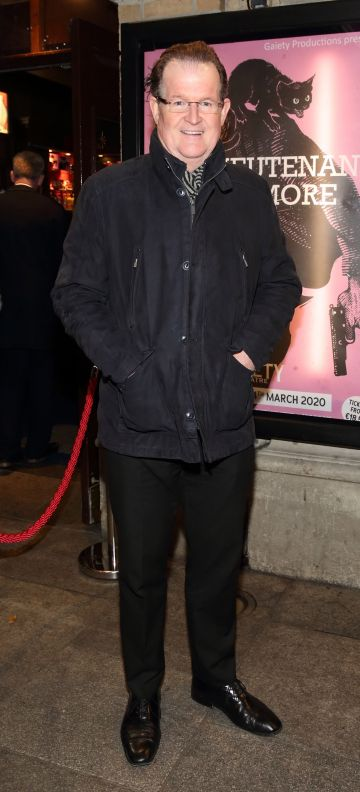 Aonghus McAnally pictured at the opening of the Gaiety Theatre's major new production of Martin McDonagh's 'The Lieutenant of Inishmore', which will run at the Gaiety Theatre until 14th March.