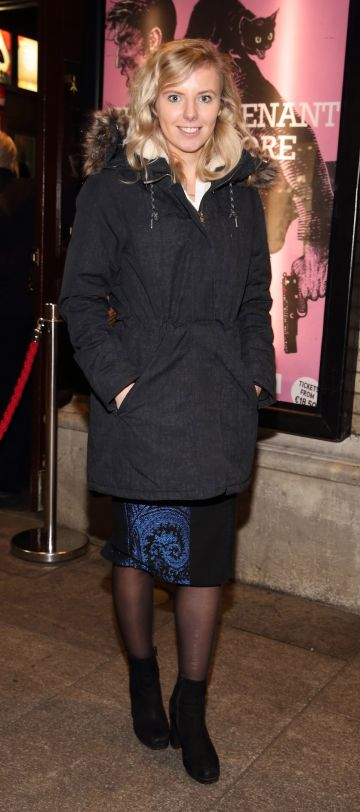 Claire Mitchell pictured at the opening of the Gaiety Theatre's major new production of Martin McDonagh's 'The Lieutenant of Inishmore', which will run at the Gaiety Theatre until 14th March.