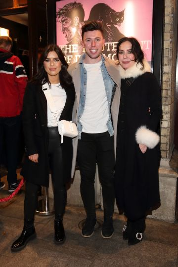 Bonnie Ryan, Elliott Ryan and Morah Ryan  pictured at the opening of the Gaiety Theatre's major new production of Martin McDonagh's 'The Lieutenant of Inishmore', which will run at the Gaiety Theatre until 14th March.
