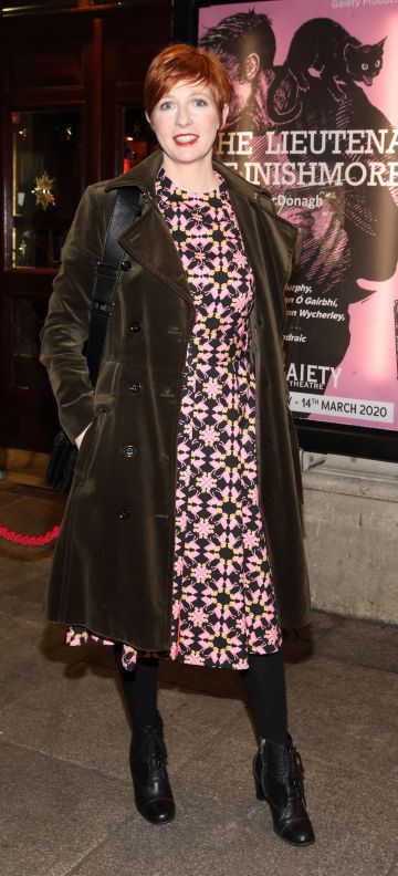 Orla Fitzgerald pictured at the opening of the Gaiety Theatre's major new production of Martin McDonagh's 'The Lieutenant of Inishmore', which will run at the Gaiety Theatre until 14th March.