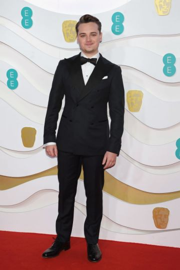 Dean-Charles Chapman arrives at the EE British Academy Film Awards 2020 at Royal Albert Hall on February 2, 2020 in London, England. (Photo by David M. Benett/Dave Benett/Getty Images)