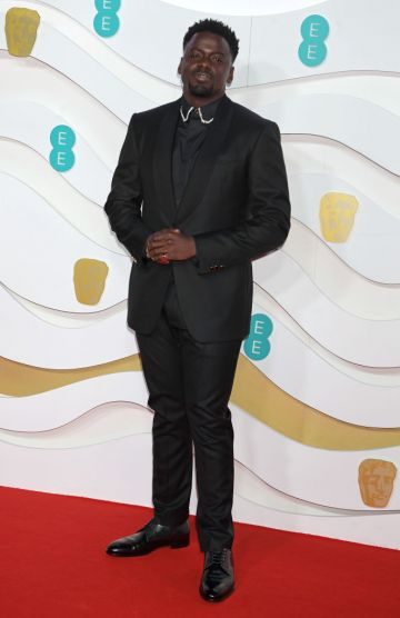 Daniel Kaluuya arrives at the EE British Academy Film Awards 2020 at Royal Albert Hall on February 2, 2020 in London, England. (Photo by David M. Benett/Dave Benett/Getty Images)