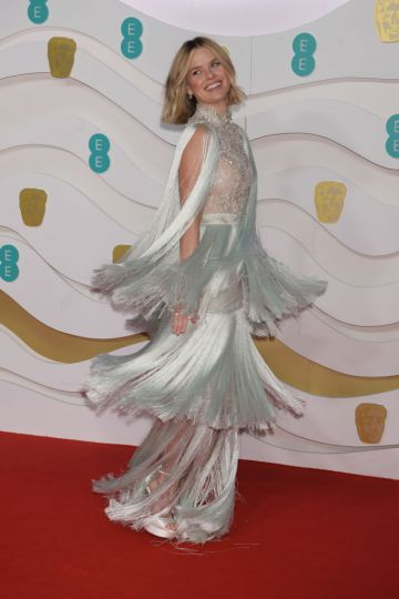 Alice Eve arrives at the EE British Academy Film Awards 2020 at Royal Albert Hall on February 2, 2020 in London, England. (Photo by David M. Benett/Dave Benett/Getty Images)