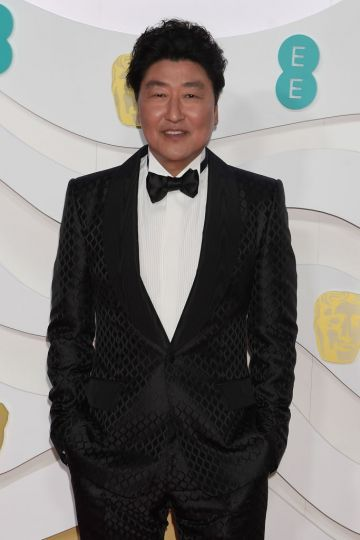 Song Kang-Ho arrives at the EE British Academy Film Awards 2020 at Royal Albert Hall on February 2, 2020 in London, England. (Photo by David M. Benett/Dave Benett/Getty Images)
