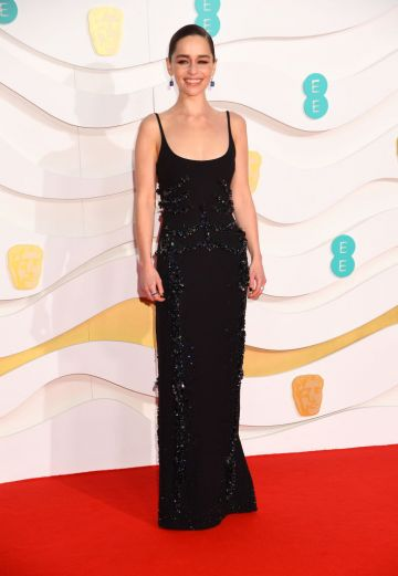 Emilia Clarke attends the EE British Academy Film Awards 2020 at Royal Albert Hall on February 02, 2020 in London, England. (Photo by Dave J Hogan/Getty Images)