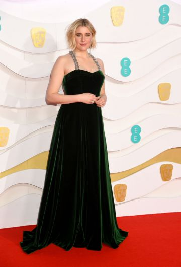 Greta Gerwig attends the EE British Academy Film Awards 2020 at Royal Albert Hall on February 02, 2020 in London, England. (Photo by Dave J Hogan/Getty Images)