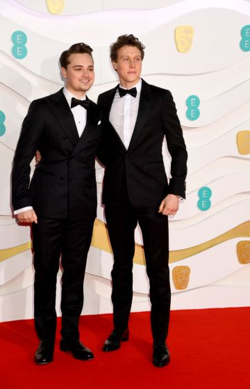 Dean-Charles Chapman and George MacKay attends the EE British Academy Film Awards 2020 at Royal Albert Hall on February 02, 2020 in London, England. (Photo by Dave J Hogan/Getty Images)