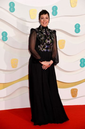 Olivia Colman attends the EE British Academy Film Awards 2020 at Royal Albert Hall on February 02, 2020 in London, England. (Photo by Dave J Hogan/Getty Images)