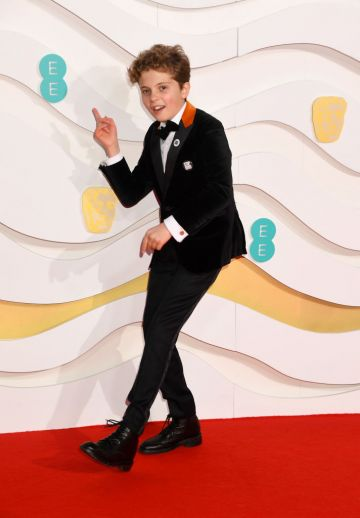Roman Griffin Davis attends the EE British Academy Film Awards 2020 at Royal Albert Hall on February 02, 2020 in London, England. (Photo by Dave J Hogan/Getty Images)