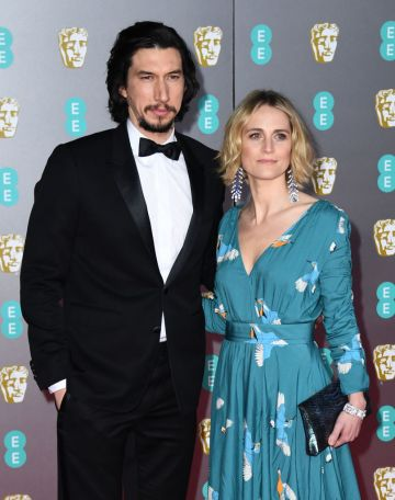 Adam Driver and Joanne Tucker attend the EE British Academy Film Awards 2020 at Royal Albert Hall on February 02, 2020 in London, England. (Photo by Gareth Cattermole/Getty Images)