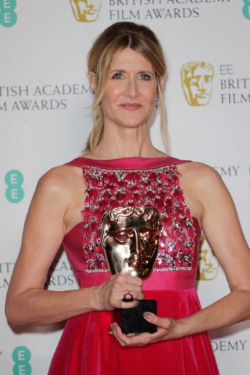 """Laura Dern, winner of Best Supporting Actress for """"Marriage Story"""", poses in the Winners Room at the EE British Academy Film Awards 2020 at Royal Albert Hall on February 2, 2020 in London, England. (Photo by David M. Benett/Dave Benett/Getty Images)"""