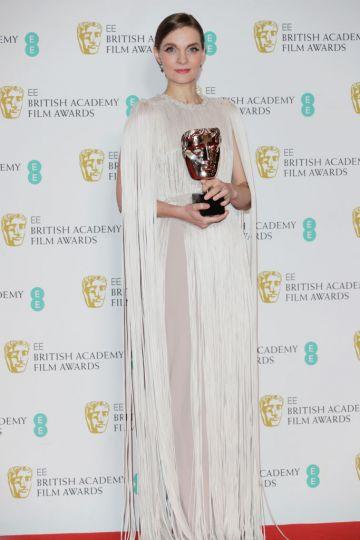 Hildur Guonadottir poses in the Winners Room at the EE British Academy Film Awards 2020 at Royal Albert Hall on February 2, 2020 in London, England. (Photo by David M. Benett/Dave Benett/Getty Images)