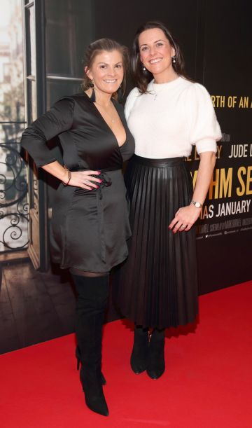 Grainne Galvin and Ciara Gillick pictured at the special preview screening of The Rhythm Section at the Light House Cinema, Dublin. Pic: Brian McEvoy Photography