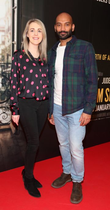 Rita O'Shea and Kande Mano pictured at the special preview screening of The Rhythm Section at the Light House Cinema, Dublin. Pic: Brian McEvoy Photography