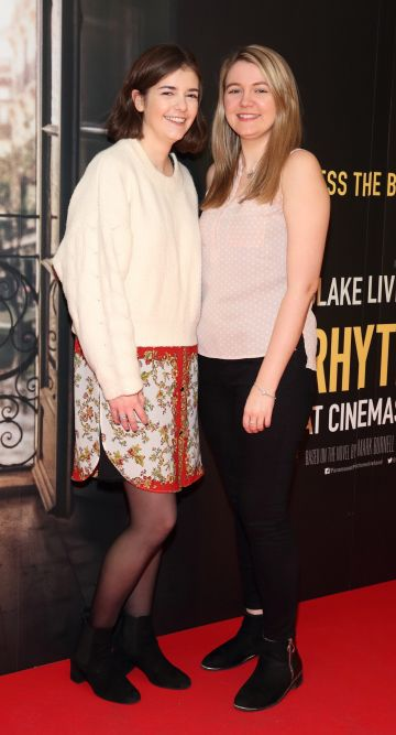 Mairead Scollan and Eimear Meehan pictured at the special preview screening of The Rhythm Section at the Light House Cinema, Dublin. Pic: Brian McEvoy Photography