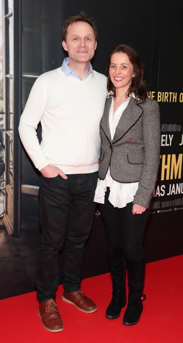 Glen Duggan and Caragh McKay pictured at the special preview screening of The Rhythm Section at the Light House Cinema, Dublin. Pic: Brian McEvoy Photography
