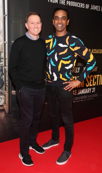 David Mitchell and Clint Drieberg pictured at the special preview screening of The Rhythm Section at the Light House Cinema, Dublin. Pic: Brian McEvoy Photography