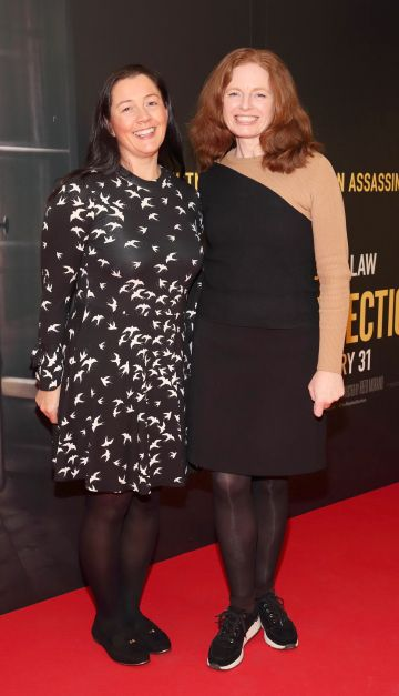 Amanda Nicholson and Fiona Murphy pictured at the special preview screening of The Rhythm Section at the Light House Cinema, Dublin. Pic: Brian McEvoy Photography