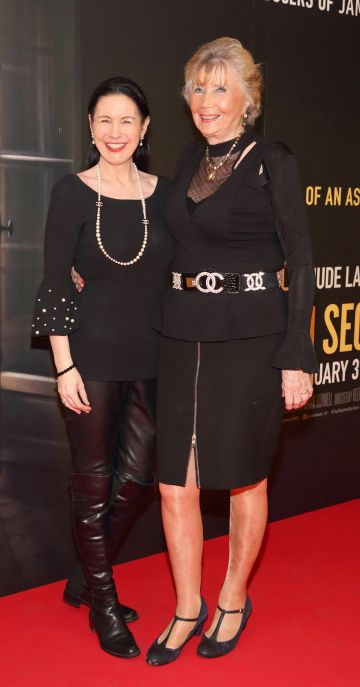Suzy Bruton and Carmel O'Connell pictured at the special preview screening of The Rhythm Section at the Light House Cinema, Dublin. Pic: Brian McEvoy Photography