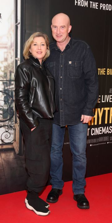 Denise Byrne and Stephen Hendren pictured at the special preview screening of The Rhythm Section at the Light House Cinema, Dublin. Pic: Brian McEvoy Photography