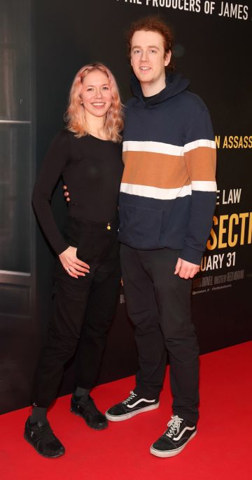 Irina Kuksova and Elliott Crampton pictured at the special preview screening of The Rhythm Section at the Light House Cinema, Dublin. Pic: Brian McEvoy Photography