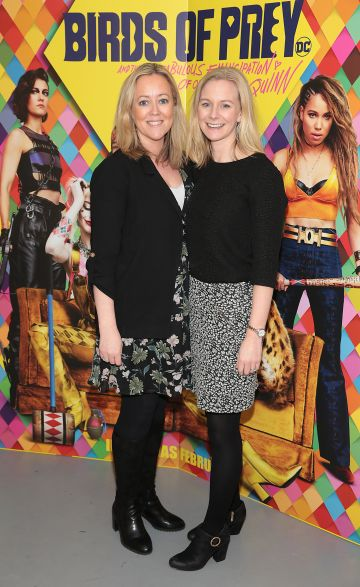 Amy Cosgrave abd Grainne O Callaghan at the special preview screening of Birds of Prey at the Lighthouse Cinema, Dublin. Pic: Brian McEvoy