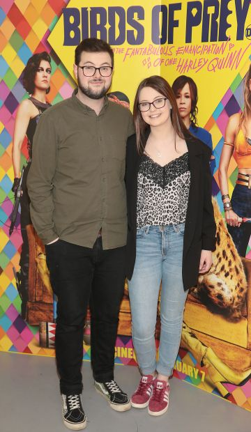 Daniel Walsh and Tara Walsh at the special preview screening of Birds of Prey at the Lighthouse Cinema, Dublin. Pic: Brian McEvoy