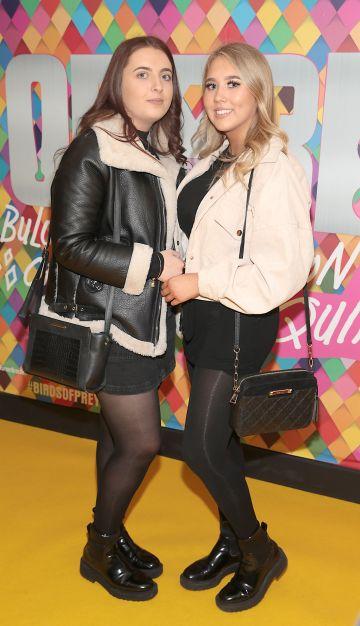 Rachael Heller and Jodie McGrath at the Irish Premiere screening of Birds of Prey at Cineworld, Dublin. Pic: Brian McEvoy