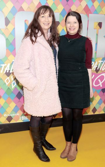 Sue Duff and Therese Anglim at the Irish Premiere screening of Birds of Prey at Cineworld, Dublin. Pic: Brian McEvoy