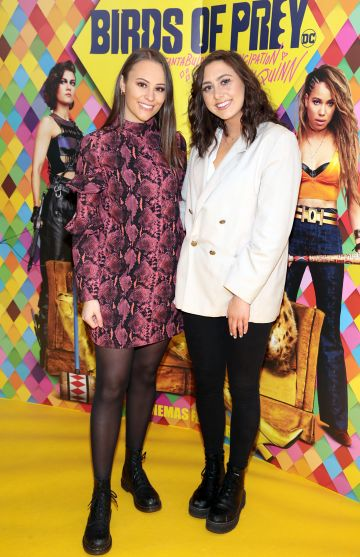 Anna Gallagher and Denise Bolger at the Irish Premiere screening of Birds of Prey at Cineworld, Dublin. Pic: Brian McEvoy