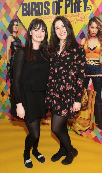 Claire Twyford and Emma Walsh at the Irish Premiere screening of Birds of Prey at Cineworld, Dublin. Pic: Brian McEvoy