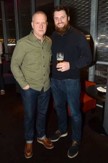 Mark Crossingham and Brian Whelan at the album launch of Riverdance  - 25th anniversary show at the 3Arena in Dublin. Photo: Justin Farrelly.