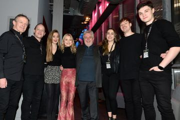 Bill Whelan and the band at the album launch of Riverdance  - 25th anniversary show at the 3Arena in Dublin. Photo: Justin Farrelly.
