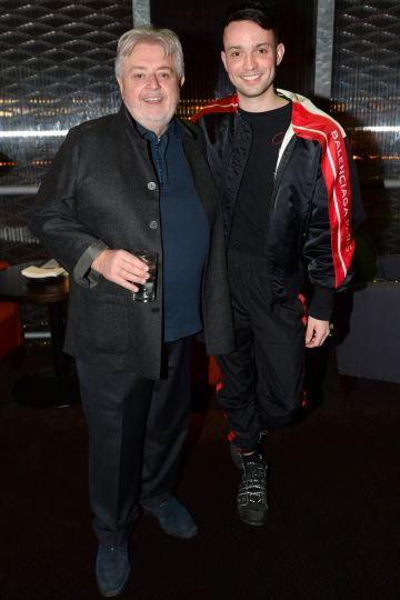 Bill Whelan and James Kavanagh at the album launch of Riverdance  - 25th anniversary show at the 3Arena in Dublin. Photo: Justin Farrelly.