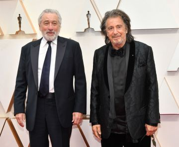Robert De Niro and Al Pacino attend the 92nd Annual Academy Awards at Hollywood and Highland on February 09, 2020 in Hollywood, California. (Photo by Amy Sussman/Getty Images)