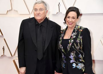 Composer Randy Newman and producer Gretchen Preece attend the 92nd Annual Academy Awards at Hollywood and Highland on February 09, 2020 in Hollywood, California. (Photo by Jeff Kravitz/FilmMagic)